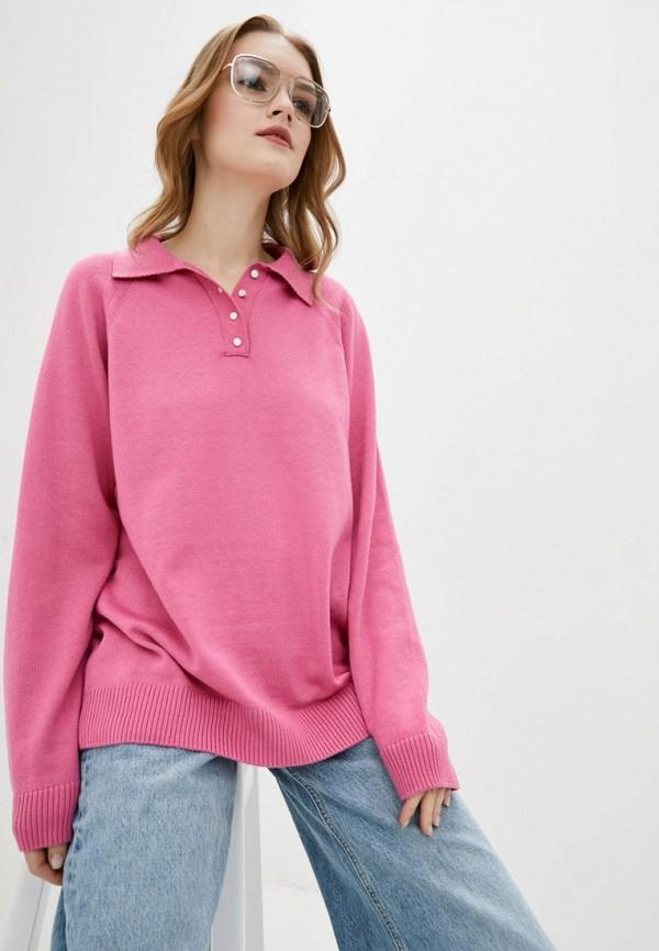 женский пуловер evolve, розовый