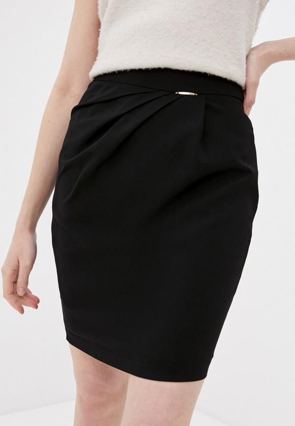 женская прямые юбка joymiss, черная