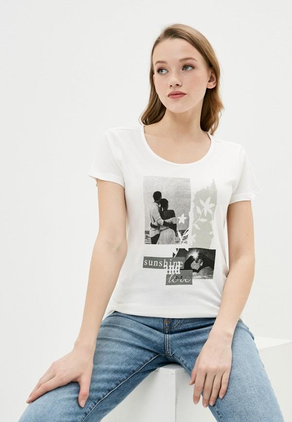 женская футболка baon, бежевая