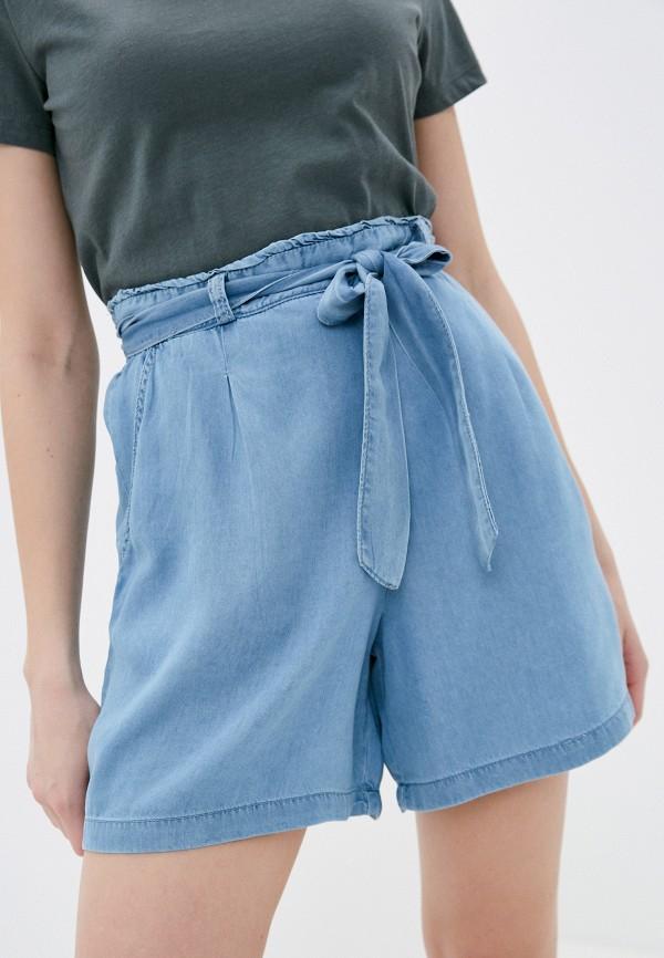 женские повседневные шорты baon, голубые