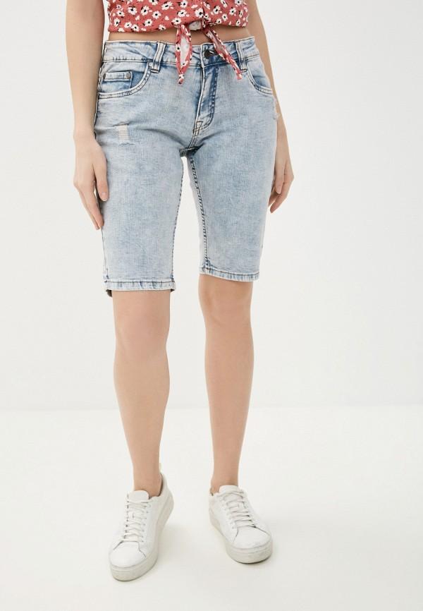 женские джинсовые шорты baon, голубые