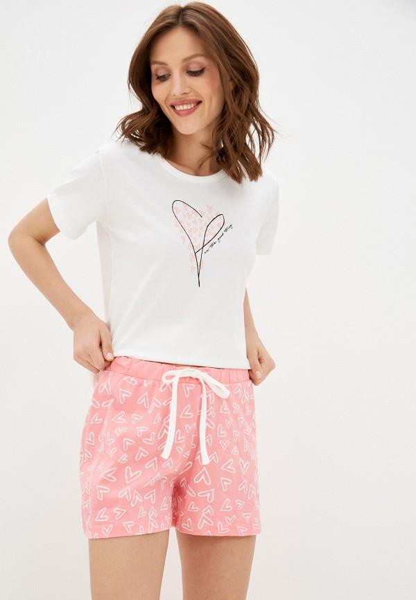 женская пижама baon, разноцветная