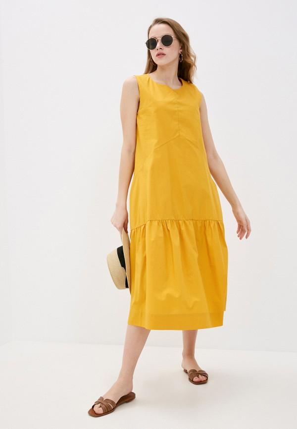 женское повседневные платье baon, желтое