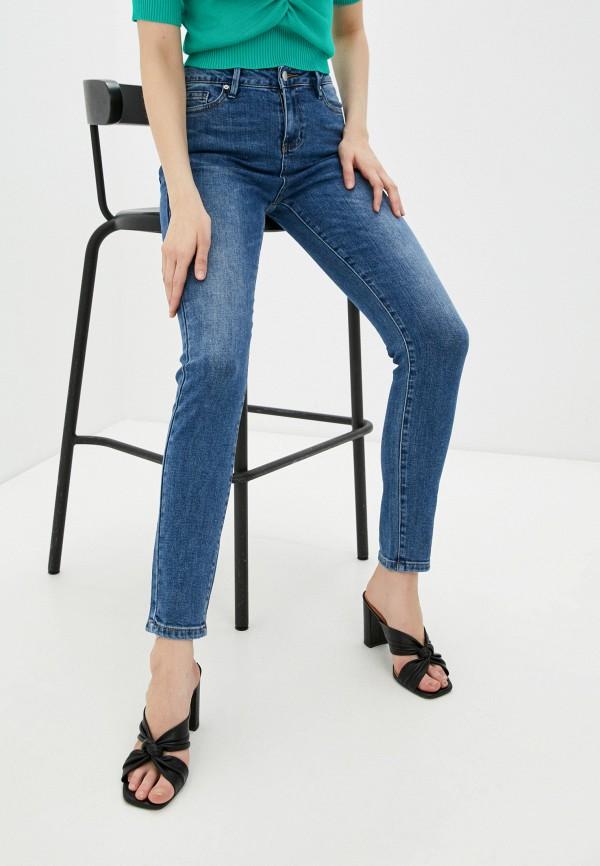 женские джинсы скинни uniize, синие