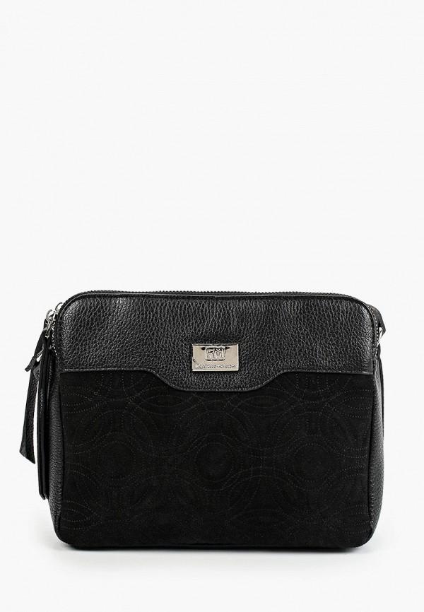 женская сумка через плечо franchesco mariscotti, черная