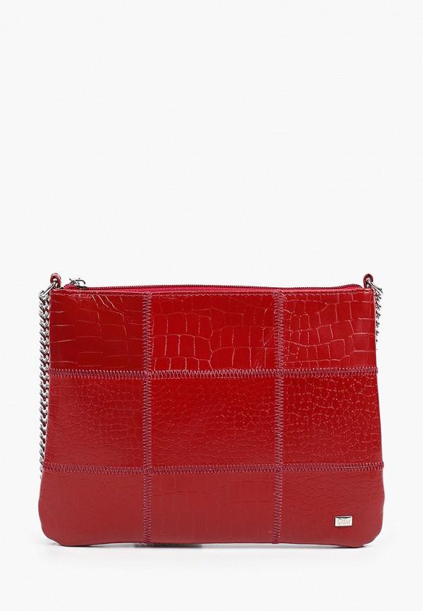 женская сумка через плечо franchesco mariscotti, красная