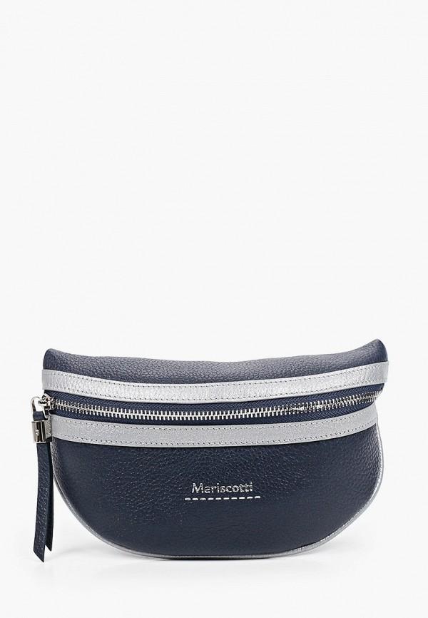 женская поясные сумка franchesco mariscotti, синяя
