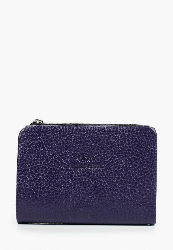 женский кошелёк franchesco mariscotti, фиолетовый