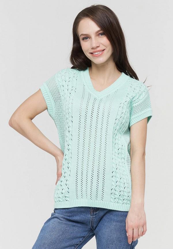 женский пуловер vay, бирюзовый