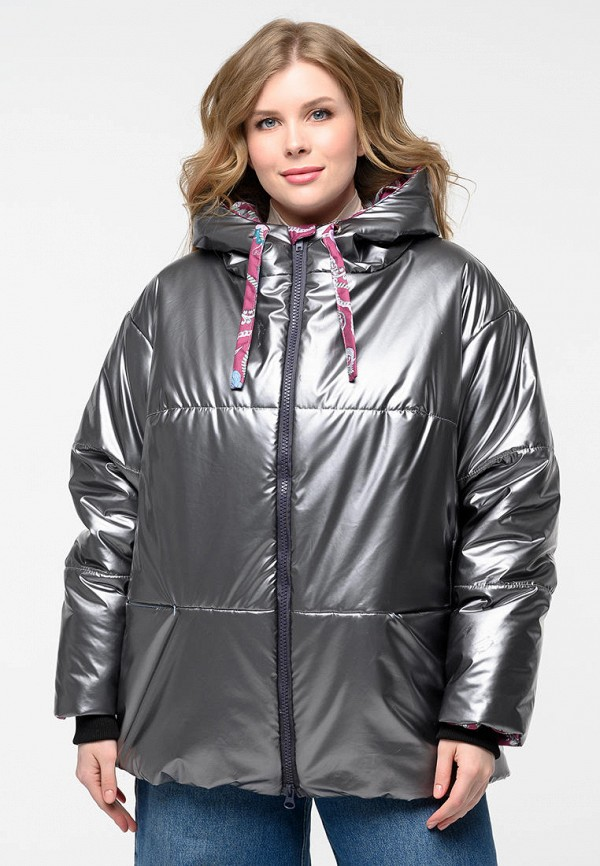 женская утепленные куртка grand grom, серебряная