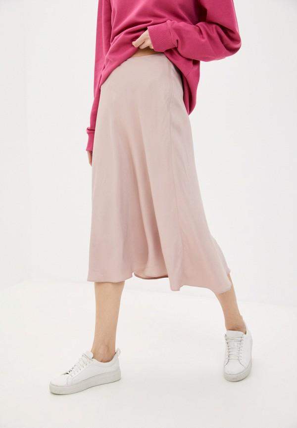 женская юбка-трапеции antiga, розовая
