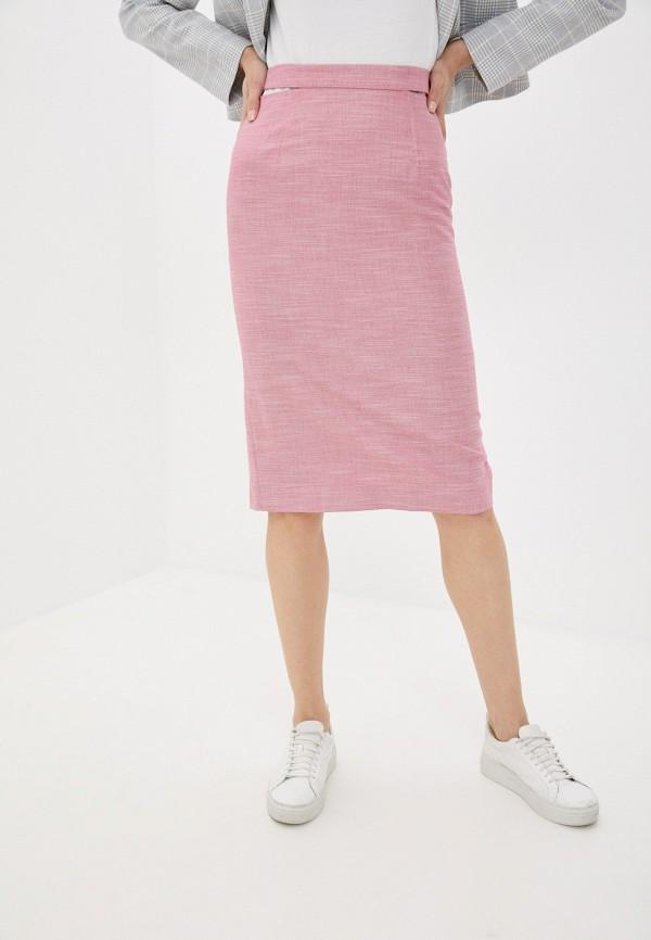 женская прямые юбка antiga, розовая