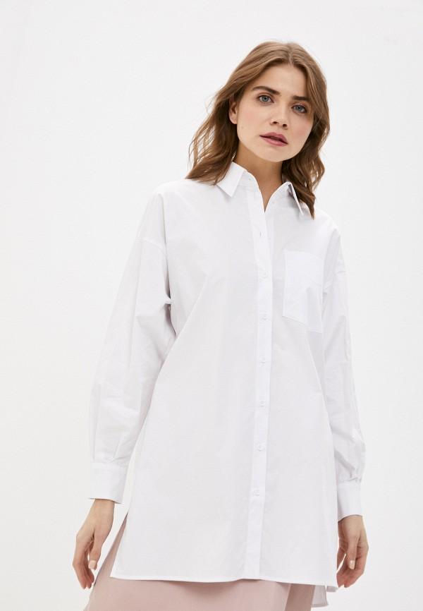 женская рубашка с коротким рукавом antiga, белая