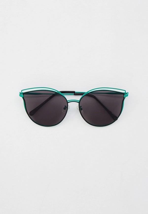 женские солнцезащитные очки кошачьи глаза модные истории, зеленые