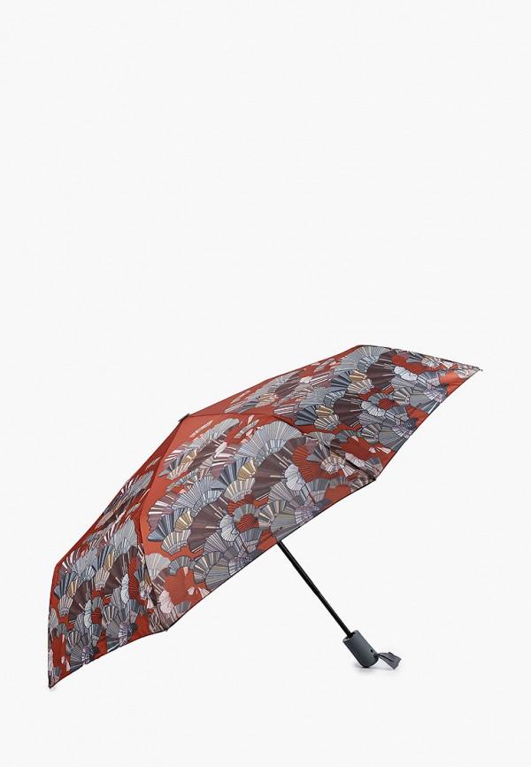 женский складные зонт russian look, бордовый