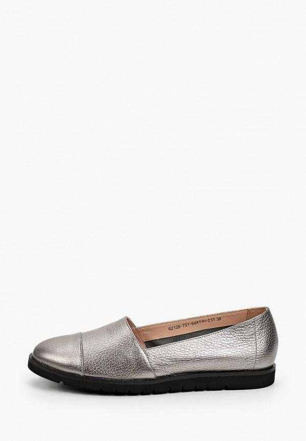 женские туфли с закрытым носом giotto, серебряные