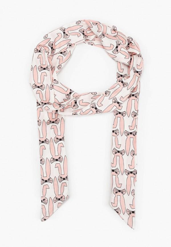 женский шарф модные истории, розовый