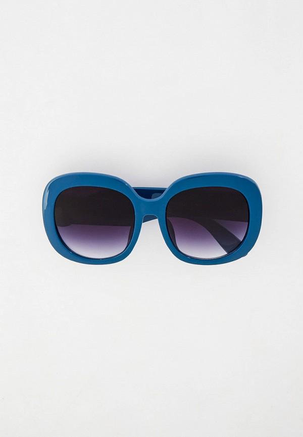 женские круглые солнцезащитные очки модные истории, синие