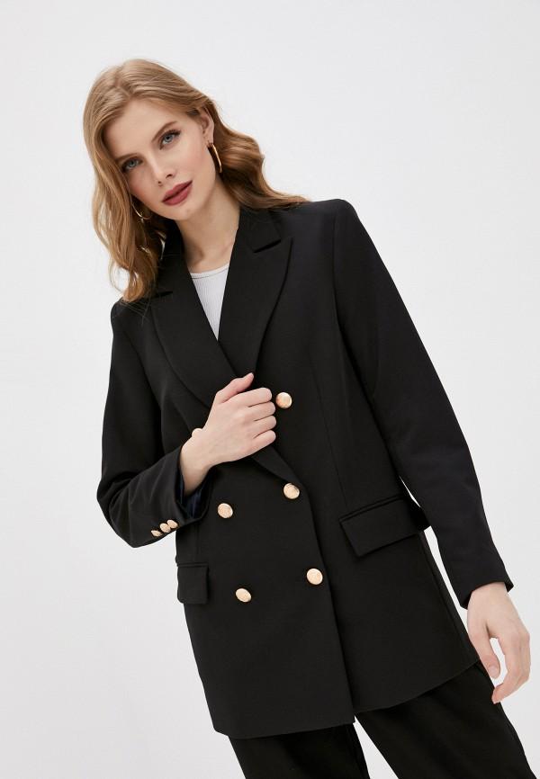 женский пиджак fiori di lara, черный