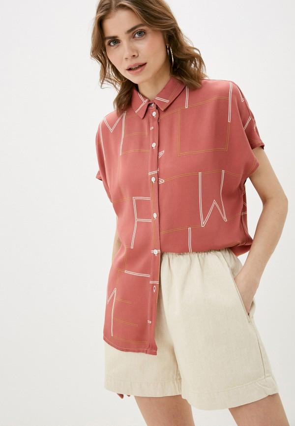 женская блузка с коротким рукавом mark formelle, розовая