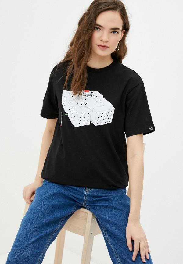 женская футболка mark formelle, черная