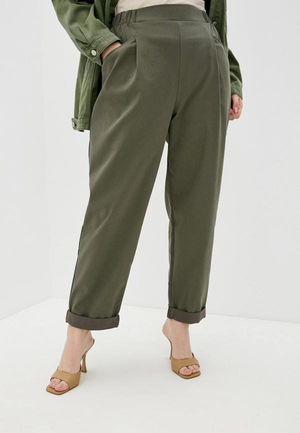 женские зауженные брюки mark formelle, зеленые