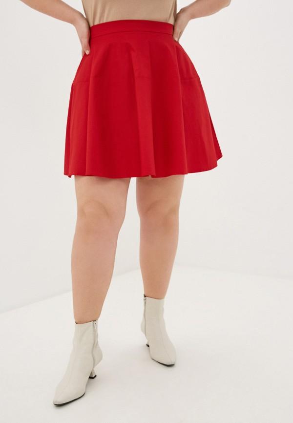 женская юбка-трапеции fashion.love.story, красная