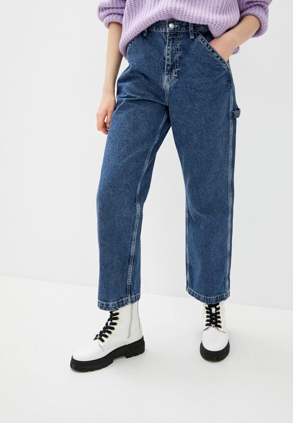 женские прямые джинсы topshop, синие