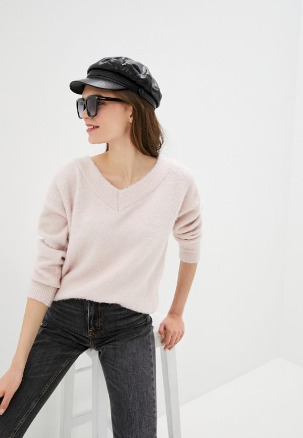 женский пуловер topshop, розовый