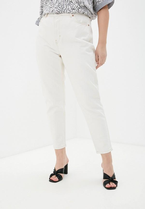 женские джинсы-мом topshop, бежевые