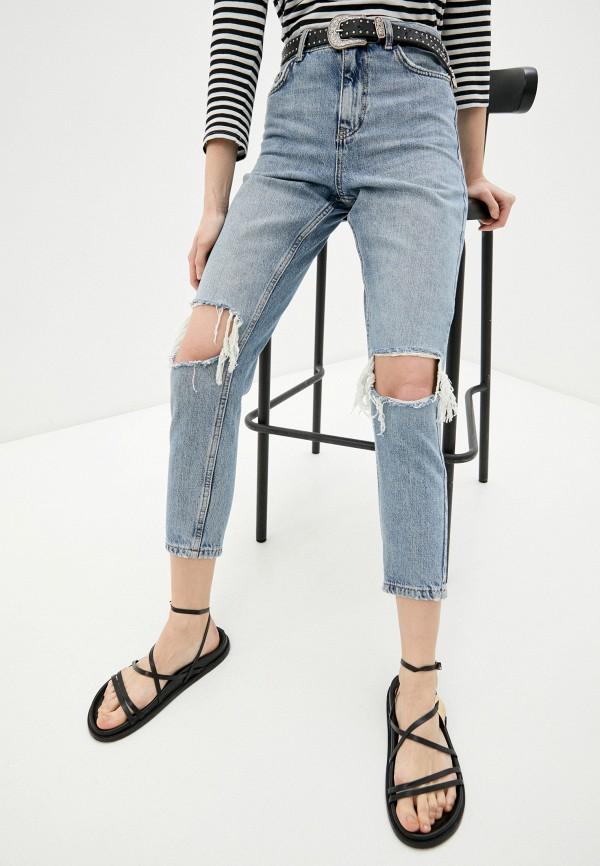 женские джинсы скинни topshop, голубые