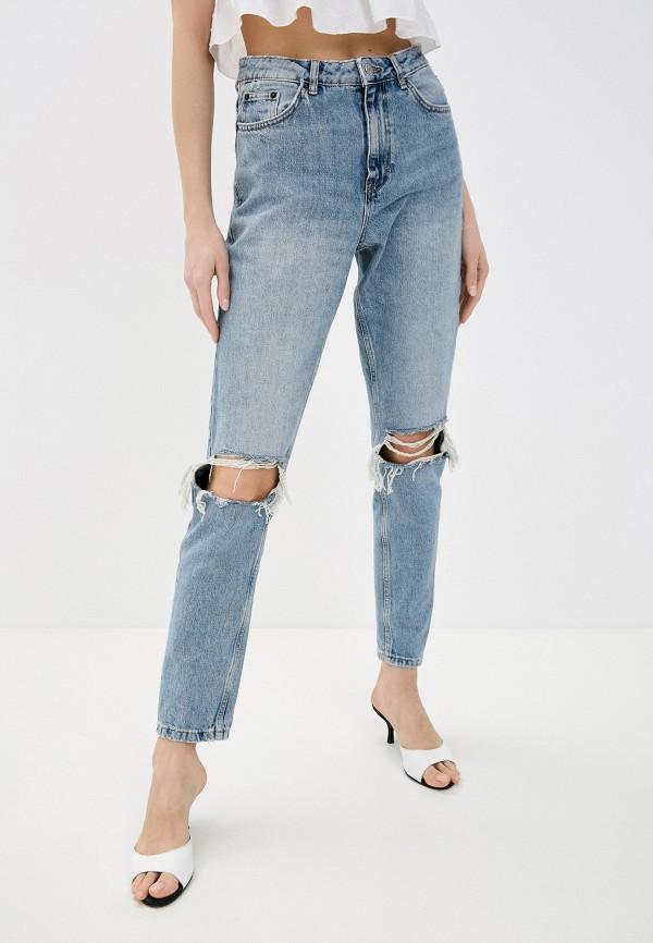 женские джинсы-мом topshop, голубые