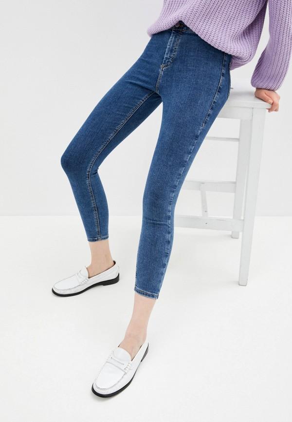 женские джинсы скинни topshop, синие