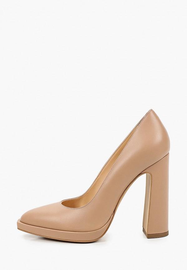 женские туфли с закрытым носом emanuele gelmetti, бежевые