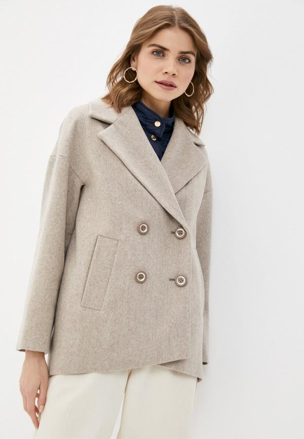 женское двубортные пальто avalon, бежевое