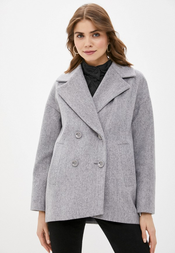 женское двубортные пальто avalon, серое