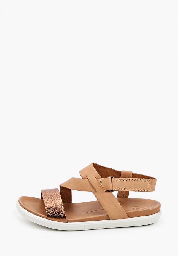 женские сандалии ecco, коричневые
