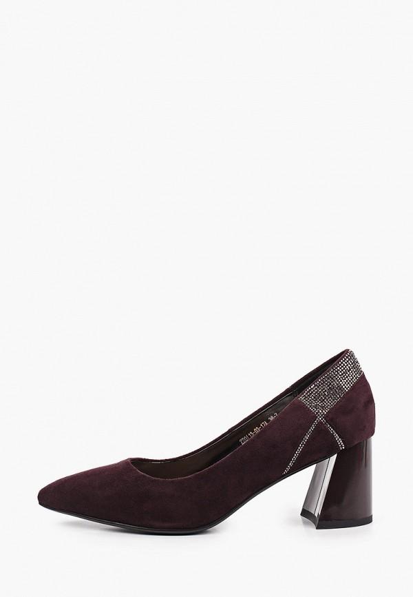 женские туфли с закрытым носом inario, фиолетовые