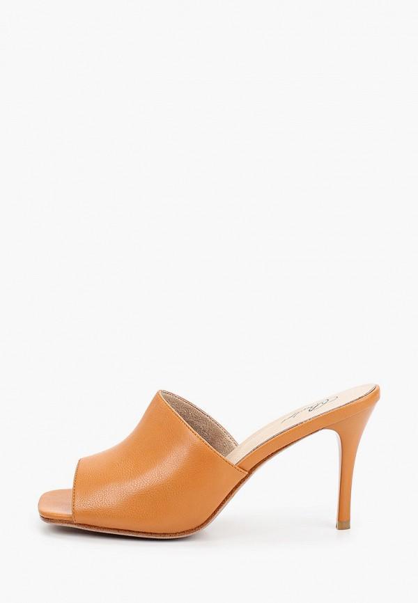 женское сабо bridget, оранжевое