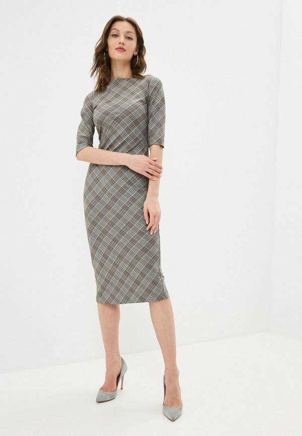 женское платье-футляр ruxara, серое