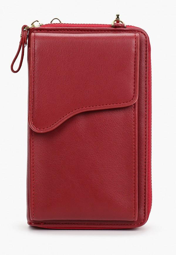 женская сумка через плечо leotex, бордовая