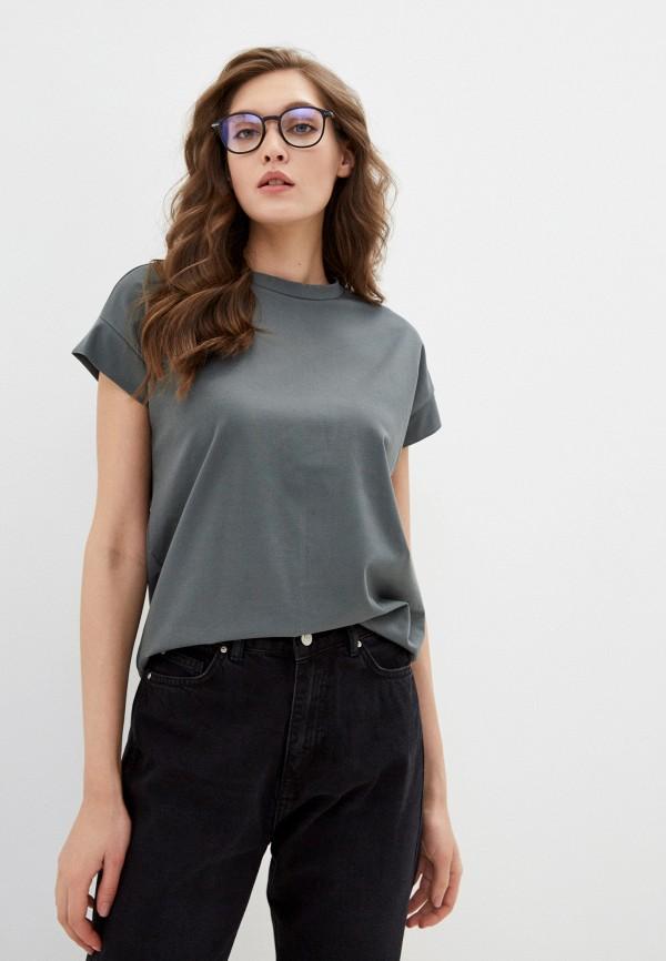 женская футболка o'stin, хаки