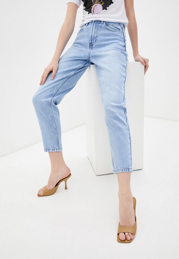 женские джинсы-мом incity, голубые