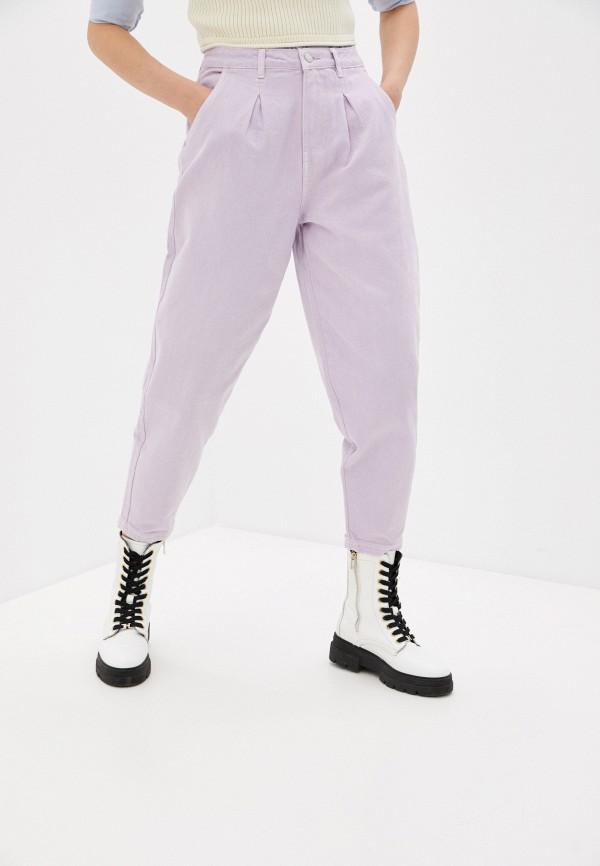 женские джинсы-мом incity, фиолетовые