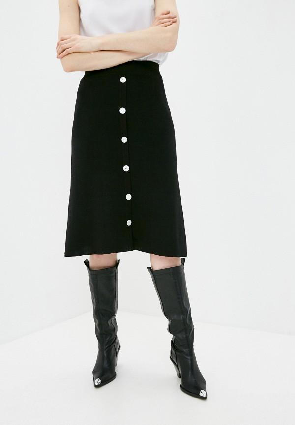 женская юбка-трапеции katya erokhina, черная