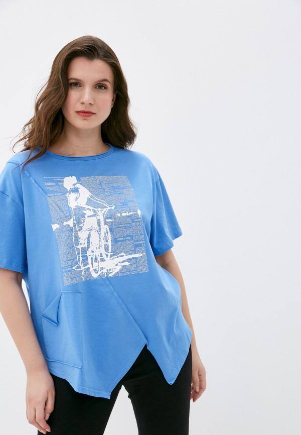 женская футболка intikoma, голубая
