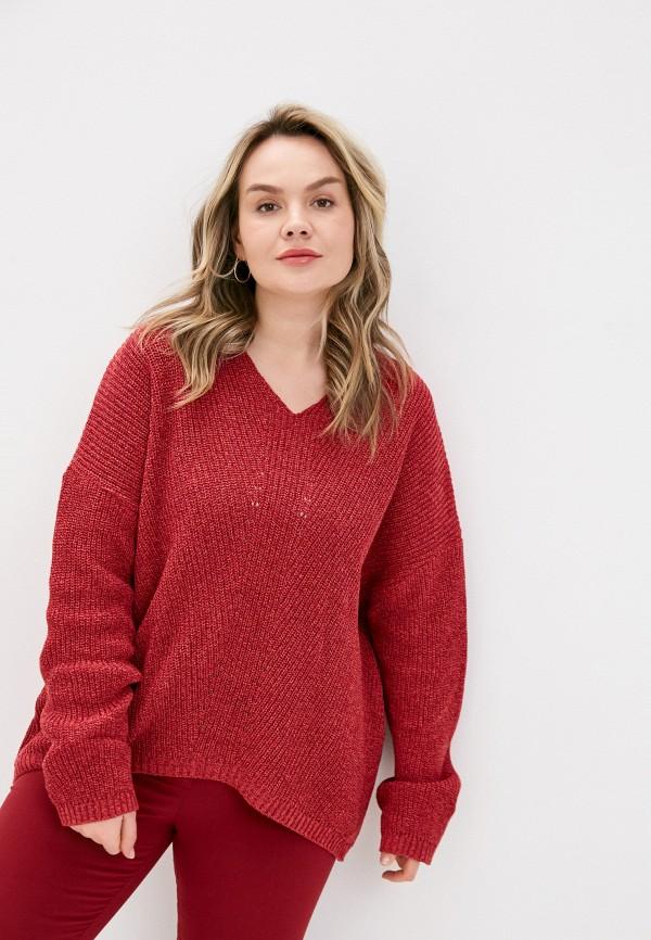 женский пуловер стим, розовый