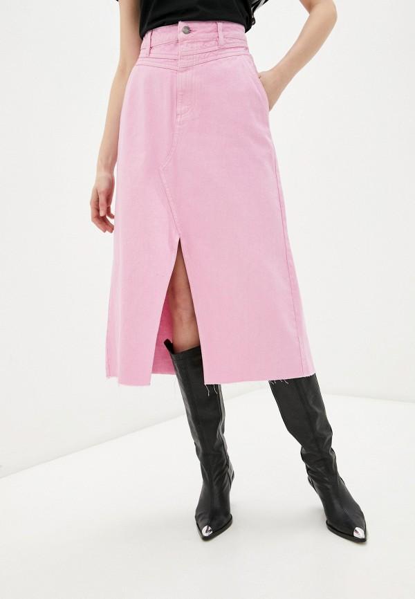 женская юбка-трапеции sela, розовая