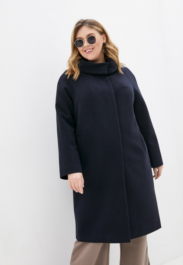 женское пальто meltem collection, синее