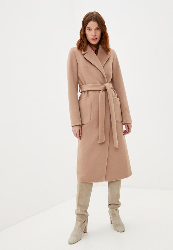 женское пальто meltem collection, бежевое